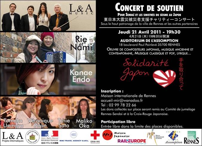 Concert de soutien à Rennes