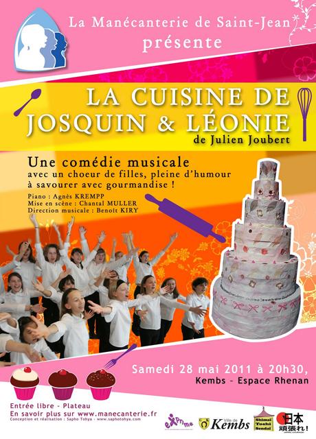 """Comédie Musicale """"La cuisine de Josquin et Léonie"""" en soutien au Japon à Kemps le Samedi 28 Mai"""