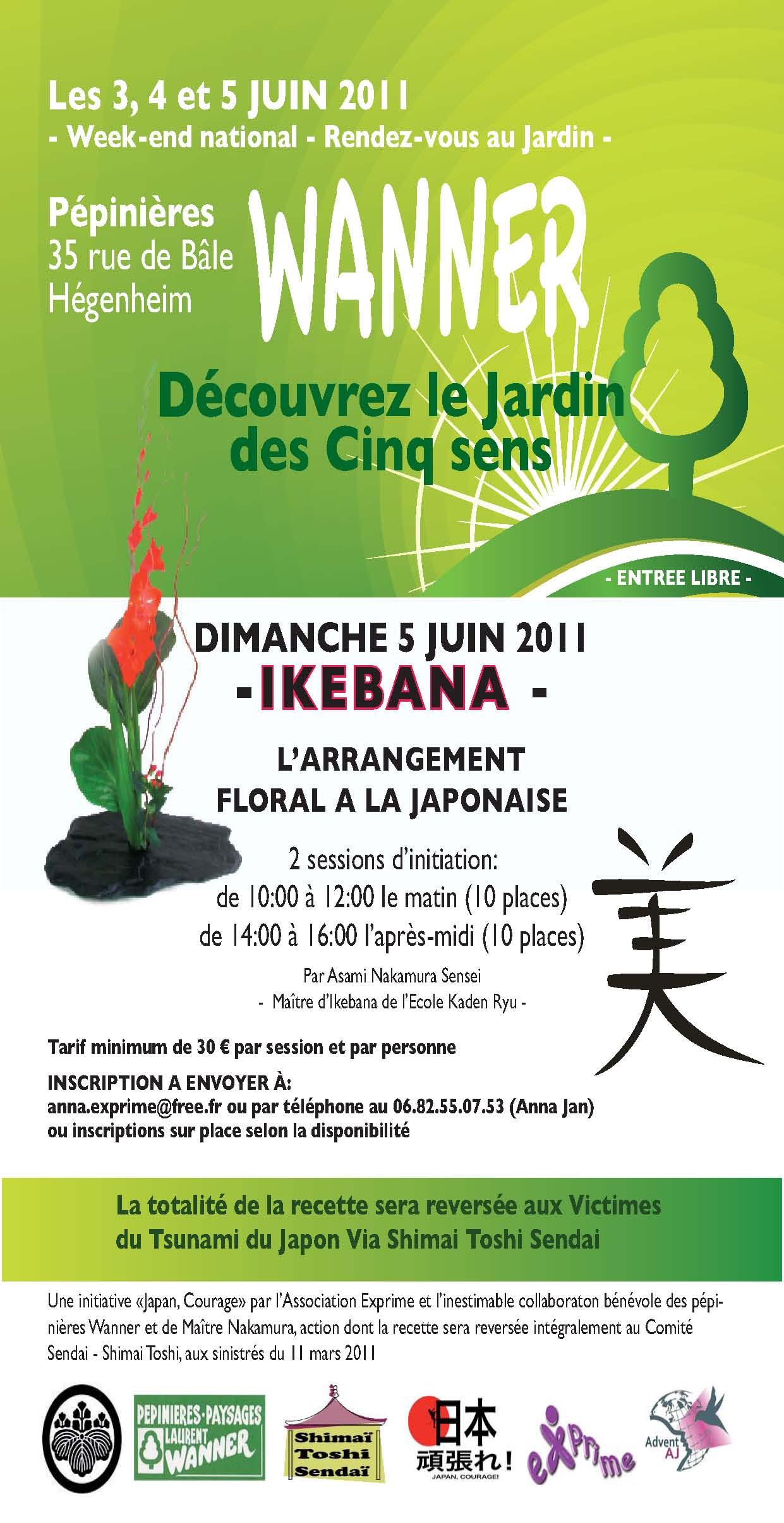 Le Jardin des Cinq Sens - Journée Ikebana à Wanner