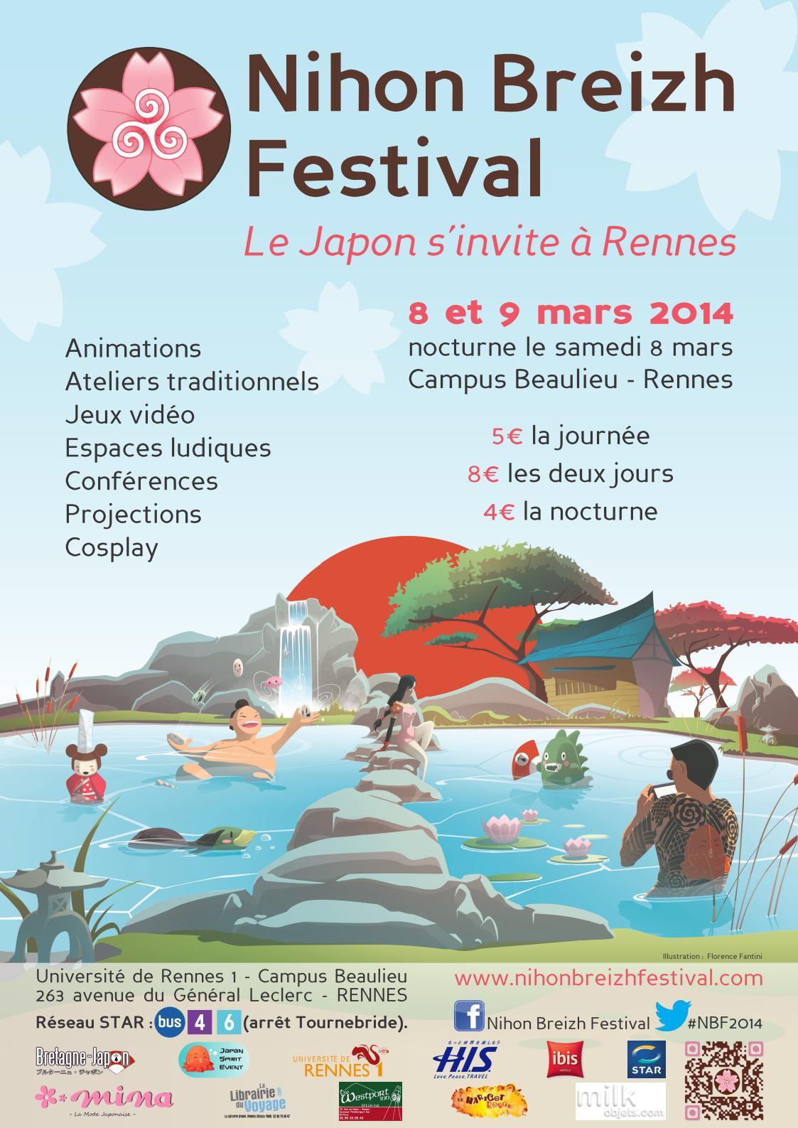 L'association Jumelage Rennes-Sendai sera présente au Nihon Breizh Festival (8-9 mars à Rennes)