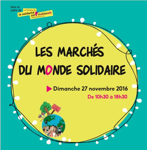 LES MARCHES DU MONDE SOLIDAIRE, Dimanche 27 novembre 2016
