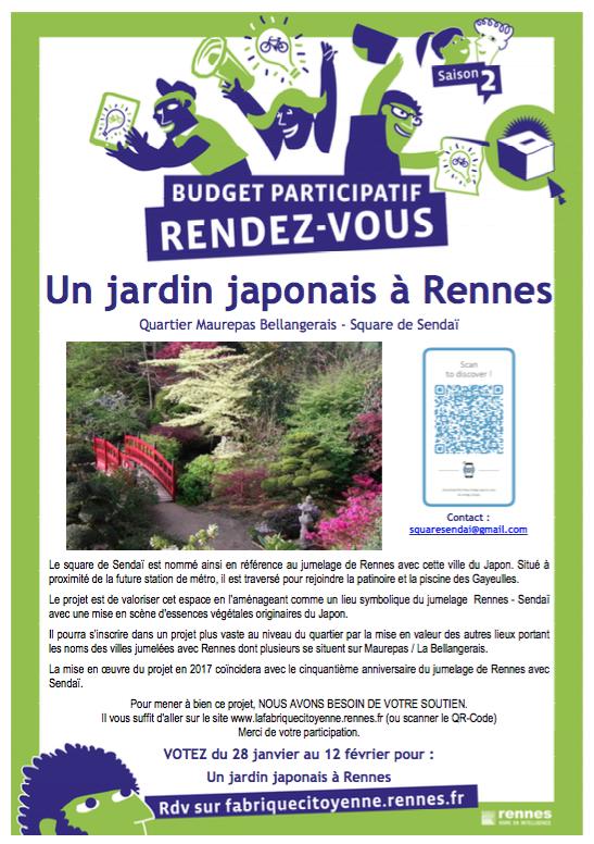 Plus que 3 jours ! Fabrique citoyenne : le projet «Un jardin japonais à Rennes»
